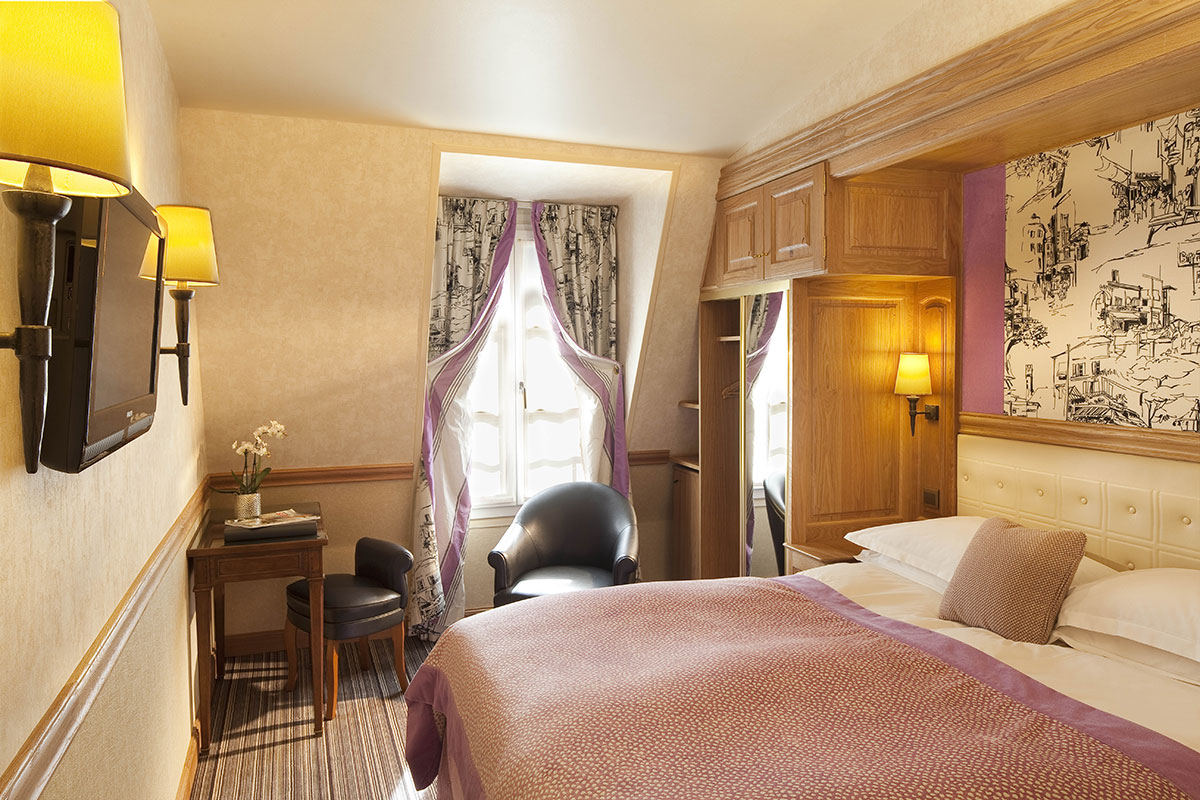 Chambre standard h tel la perle st germain site for Chambre hotel reservation